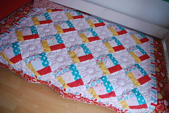 Great for a Children's Bed (easypatchwork) Tags: quilt patchwork offset appleofmyeye babyquilt recycledclothing customquilt kinderquilt rileyblake thequiltedfish nhservice