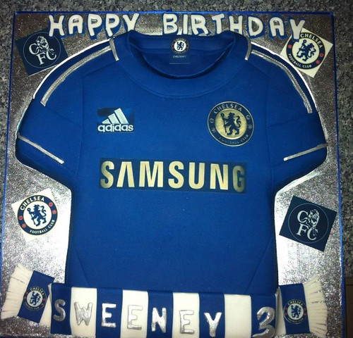 26816a8a8 Chelsea Football Shirt Cake - a photo on Flickriver