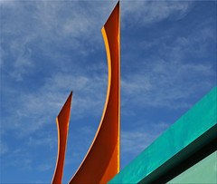 Minimalism - Day 1 (Jill Clardy) Tags: ca city blue winter sky orange abstract color car vintage aqua day bright turquoise retro clear wash 100views redwood minimalism day13 primary minimalist day13365 3652013 365the2013edition 13jan13 4b4a9519