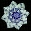 Another Floral Star Folded During Lunch Break
