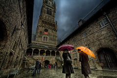 A rainy day in Bruges (Wameq R) Tags: wet rain belgium cloudy rainy jail bruges hdr lightroom photomatix blinkagain hdrefex