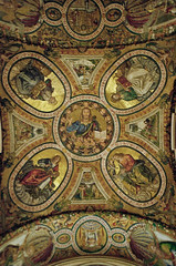 Santa Croce in Gerusalemme (therurrjurr) Tags: john christ matthew mark mosaic luke mosaics ceiling constantine apostles santacroceingerusalemme sainthelena sainthelen basilicaoftheholycrossinjerusalem sevenpilgrimchurches evengelists