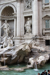 Baroque Fountain (Jocey K) Tags: people italy sculpture rome water fountain architecture buildings evening trevifountain baroquefountain cosmostour6330