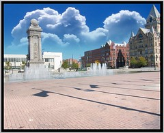 Clinton Square  ~ Syracuse NY ~ Historical District (Onasill ~ Bill Badzo - 60 Million Views - Thank Yo) Tags: county ny newyork building tower clouds square canal site memorial war downtown state district clinton bank civil syracuse historical erie fountains savings gridley onondaga nrhp onasill