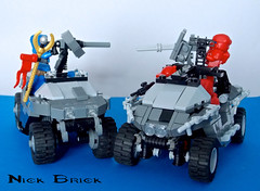 Warthog comparison (Nick Brick) Tags: brick gun lego 4 nick machine halo fav hog turret m12 spartan warthog lrv unsc brickarms brickwarriors