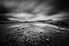 Afon Ystwyth (andy p m) Tags: aberystwyth afonysywyth wales blackandwhite clouds longexposure mono monochrome movingclouds nature outdoors river water