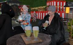Beer Time! (BlueLotusOkiya) Tags: obonfestival obonodori matsuri bluelotusokiya secondlife minarai geisha ichimiyo hinako yagura