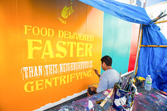 Seamless (Always Hand Paint) Tags: b199 progress seamless seamlessprogress kristamlindahl ooh outdoor colossalmedia alwayshandpaint skyhighmurals advertising colossal handpaint mural muraladvertising onlineservice restaurant