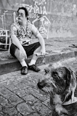 There? (fcribari) Tags: 2016 bw brasil brazil pernambuco recife blackandwhite dog fotografiaderua monochrome pretoebranco street streetphoto streetphotography