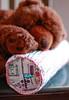 À Conversa  /  Talking (Canela Cheia) Tags: almofada artesanato bear brown castanho colors cores handmade patchwork pillow retalhos selvages urso