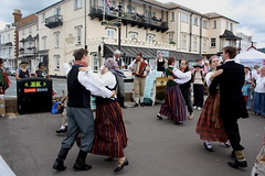 Dance Displays @ Sidmouth Folk Week (2016) 27 - Folk Dance Group Dandari (KM's Live Music shots) Tags: worldmusic latvia folkdancegroupdandari dancers sidmouthfolkweek esplanadesidmouth