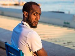 Portrait homme (totofffff) Tags: cannes croisette france french riviera street alpes maritimes mditerrane noir blanc black white festival film olympus om d e m1 expo droite