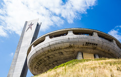 BUZLUDZHA-35 (RAFFI YOUREDJIAN PHOTOGRAPHY) Tags: buzludzha bulgaria spaceship soviet architecture ruin graffiti communist derelict abandoned relic distasteful building monument