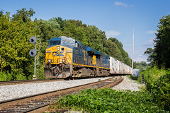 Q042 at Amherst (Peyton Gupton) Tags: amherst csx csxt kd sub train railraod railroad