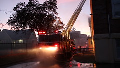 Vancouver Heritage School Burns (bcfiretrucks) Tags: vancouver fire school heritage building carlton elementary smoke flames involved roof attic ladder truck aerial quint raised spartan smeal fireman firefighter rescue peak well bc british columbia news photography photographer breaking 4th alarm sunset