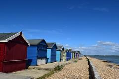 Beach Huts (mme1998) Tags: beach calshot hampshire aonb coast coastline solent southampton summer nikon d3300 dslr water sea ocean sand huts beachhuts wood texture