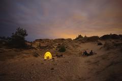 The Dunes of Schmllhorn Bay (all martn) Tags: mtb bikepacking camp tent zelt night nacht strand dnen beach dunes scotland findhorn bay sand