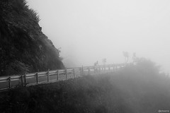 (Hsuan-Yu Peng) Tags: mountains fog white cycling bicycle