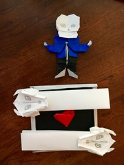 Undertale Battle in Origami (4811) Tags: undertale origami folded sans gasterblaster soul game tobyfox paper