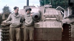 StuG 40 Ausf.G and Stafeeva the Americans, 1944.