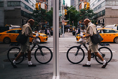 DSC06599 (Rickxcalde) Tags: humble reflection taxi newyorkers nyc newyorker bike dream