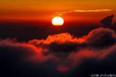 Set under the clouds (vyshaks) Tags: travel vacation canon7d canon orangesky orangesun sunset roopkundtrek indiahikes