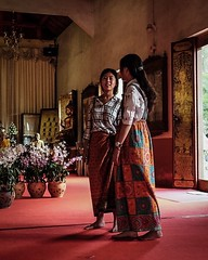 Girls in Temple (christophe plc) Tags: temple girls xt1 fuji chiangmai photo portrait color inside interieur thai thailande thailand xf1855mmf284 mirroless person flickr