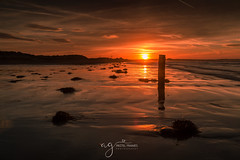 fire in the sky (Pastel Frames Photography) Tags: tyrellabeach sunrise red colour sky clouds fire reflections northernireland nature morning canon5dmark3 canon 2470mm