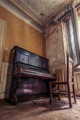 (MichaWha) Tags: france michaelflocco canoneos6d 1740mmf4lusm urbex urbanexploration abandoned derelict decay house interior piano hdr wideangle