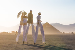 Burning Man 2016 (jamenpercy) Tags: blackrockcity burningman2016 jamenpercy nevadadesert davincisworkshop playa stilts tall pyr pyramid