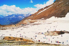 Rohtang Pass (himanshu_07) Tags: rohtang pass manali ice snow blue sky beauty nature mountain hill sun serene cold people color india fun enjoy vsco travel sony outdoor outside love