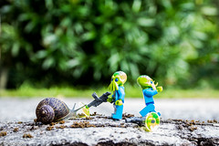 World War L (The Aphol) Tags: lego alien fight legography minifigures snail toy invasion battle outdoor