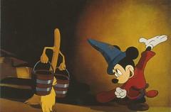 Fantasia the Sorcerers Apprentice (LillieBuggy) Tags: postcard mickey mop art disney fantasia