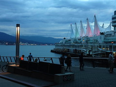 Canada Place at Twilight (FernShade) Tags: vancouverbc canadaplace thefivesails coalharbour twilight scenery city urbanscenery ocean