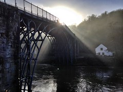 Ironbridge (Documentally) Tags: bridge sun mist engineering ironbridge uploaded:by=flickrmobile flickriosapp:filter=nofilter
