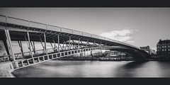 • Solferino Bridge • (jubu photographie) Tags: bridge bw abstract paris france port blackwhite îledefrance noiretblanc reflet nuage hdr 1740 ponton passerelle longue solférino champsélysée 5dmk2