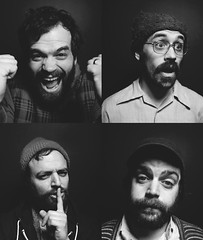 Mewithoutyou (Andy S. Foster) Tags: columbus ohio music white black andy rock canon photography grey photo cafe promo brothers mark live rumba band s foster ii indie and ely 5d fade mewithoutyou nostrobistinfo removedfromstrobistpool seerule2
