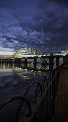 DSC02442-Edit (DSLR Lee) Tags: bridge light sunset sky cloud water night clouds dark landscape cheshire nightime waters waterside mersey runcorn merseyside widnes runcornbridge