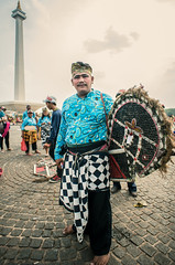 Kuda Lumping Dancer (syukaery) Tags: street portrait indonesia java dance nikon traditional dancer jakarta 20mm monas javanese kudalumping d700 flathorse