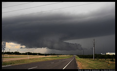 Large Wall Cloud over the Cedar Hill, Texas Antenna Farm (SamInDallas) Tags: sky cloud storm texas thunderstorm cedarhill barricklow supercell wallcloud antennafarm