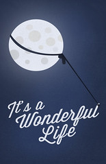 """""""It's a Wonderful Life"""" Poster (emptycupboard) Tags: life christmas moon holiday cinema classic film reed its mystery vintage wonderful movie poster frank bedford typography james george donna oscar mod truth glow quote contemporary mary jimmy joy award rope romance falls retro christian give stewart fantasy bailey font romantic itsawonderfullife greatest academy universe drama lunar current minimalist meaning masterpiece alternate 1946 alltime lasso capra nominated reimagined pottersville"""