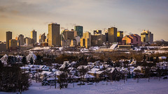 Frosty Sunset (Ian McKenzie) Tags: winter snow skyline downtown edmonton sony lightroom a57 2875mm geocity exif:focal_length=35mm exif:make=sony exif:iso_speed=250 camera:make=sony geostate geocountrys exif:aperture=10 ianmckenziephotography exif:lens= camera:model=slta57 exif:model=slta57