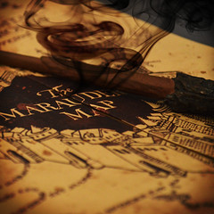 The Maraudeur Map (Ccile Commat) Tags: map magic harry potter du ron baguette pas hermione carte granger magie fume weasley magique maraudeur