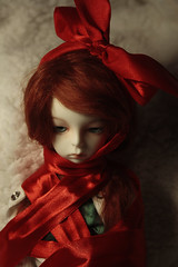 Christmas wrapping (FatRoundKitty) Tags: doll bjd renata gertrude msd balljointed gerti dollzone