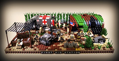 First Aid Station (Project Azazel) Tags: google lego patton pa ww2 ba cb custom wwll quonsethut googleimages firstaidstation willysjeep brickarms legomilitary legoww2 ww2lego legowillysjeep citizenbrick projectazazel legomilitarymodel wc54dodgeambulance ww2firstaidstation