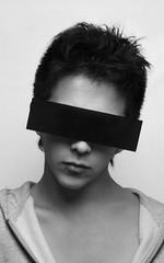 ColorBlind (TylerTomshack) Tags: white black glasses censored softbox