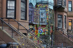 (hunter.gatherer) Tags: brooklyn dusk parkslope brownstone 2ndst paintedflowers
