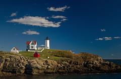 Cape Neddick Lighthouse (He||Gate) Tags: usa lighthouse canon eos coast day united main east clear cape states polarizer neddick nubble 60d