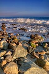 Santa Monica,CA (Michael Lawenko dela Paz) Tags: ocean california sea usa beach water coast losangeles colorful waves pacific santamonica coastal shore rockybeach bodyofwater