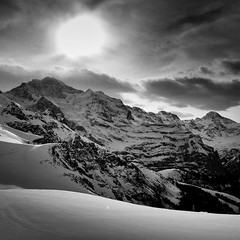 untitled (smon) Tags: light sky sun snow mountains nature clouds landscape blackwhite explore iphone iphone5 noirphoto snapseed